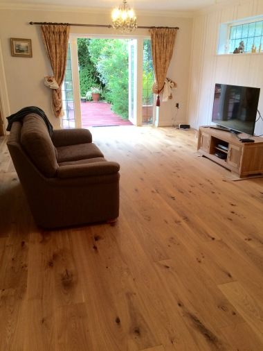 Engineered flooring in a new lounge
