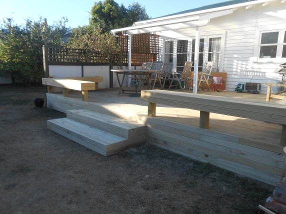 Deck built from scratch
