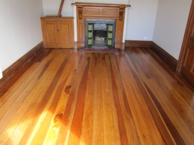 Restored original floorboards
