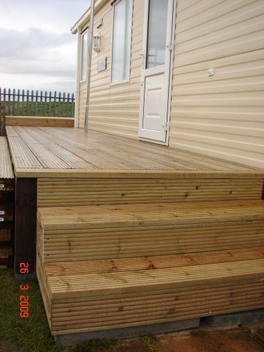 Deck on a caravan built form scratch