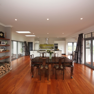 Stunning new build house with extensive wood flooring